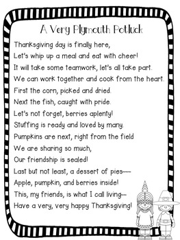 A Very Plymouth Potluck {A FREE Interactive Thanksgiving Feast Treat}