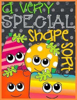 A Very SPECIAL Shape Sort: 2D Shape Sort FREEBIE