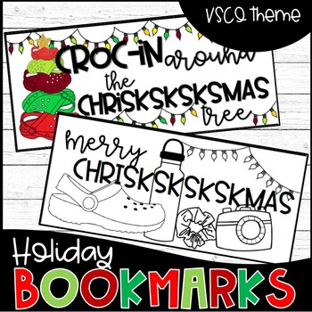 A Very VSCO Chriskskskmas: Holiday Bookmarks Tags Printable Student Gifts