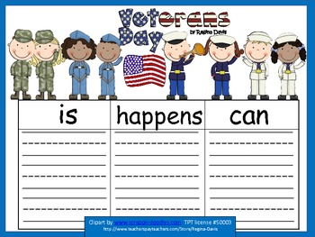 A+ Free...Veterans Day: Graphic Organizers