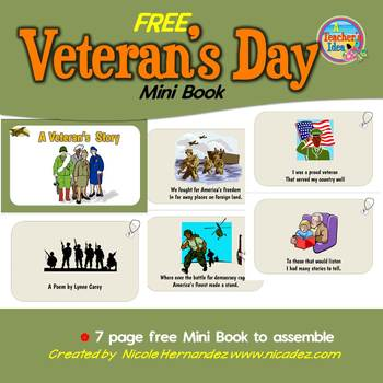 Veterans Day FREE Mini Book