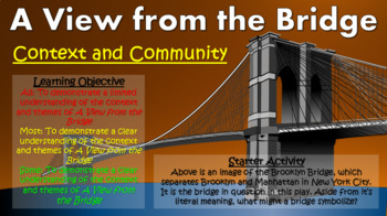 A View from the Bridge: Context and Community