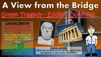 A View from the Bridge: Greek Tragedy: Eddie's Downfall!
