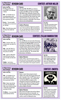 A View from the Bridge Revision Cards