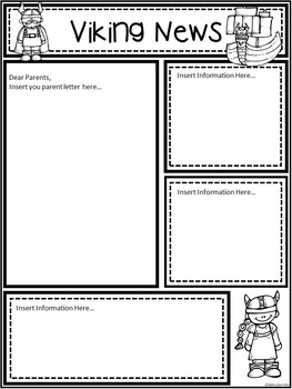 A+ Viking: *EDITABLE* Papers For Teacher News and Notes To Parents