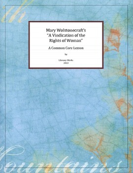 """""""A Vindication of the Rights of Woman"""" by Mary Wolstonecraft"""
