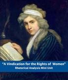 """A Vindication of the Rights of Women"" Rhetorical Analysis Set"