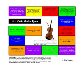 A+ Violin Review Game
