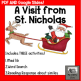 A Visit From St. Nicholas - No prep Google Slides and PDF - Mad Lib, Word Search