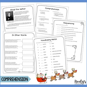 A Visit From St. Nicholas ('Twas the Night Before Christmas) Comprehension Pack