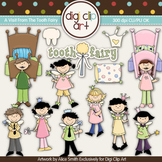 A Visit From The Tooth Fairy -  Digi Clip Art/Digital Stamps - CU Clip Art