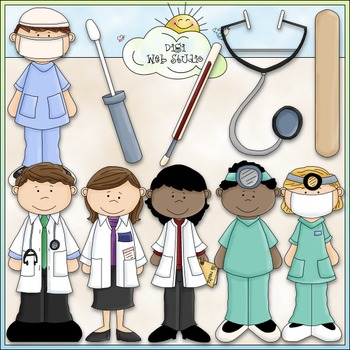 A Visit To The Doctor Clip Art - Medical Clip Art - CU Clip Art & B&W