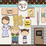 A Visit To The School Nurse's Office -  Digi Clip Art/Digital Stamps - CU