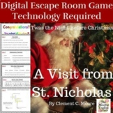 A Visit from St. Nicholas Digital Escape Room Game /Breakout  - NO PREP - Review