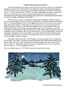 A Visit from St. Nicolas, 'Twas the Night Before Christmas! Poetry 6th-9th grade