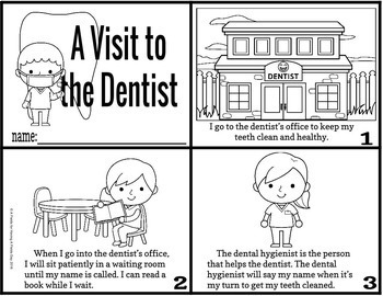 A Visit to the Dentist - Social Story with BOOM Cards Interactive Digital Story