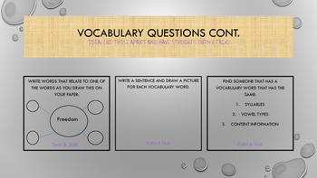 A Visit to the Desert -Vocabuary Packet