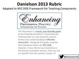 A Visual, User-Friendly Guide to 2013 Danielson Framework BUNDLE