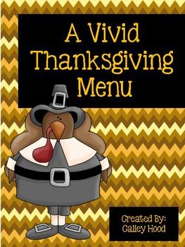 A Vivid Thanksgiving Menu