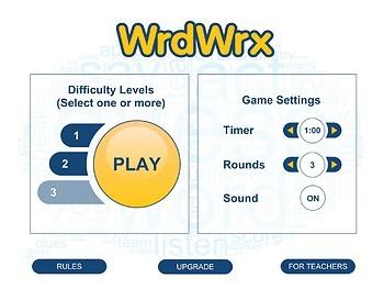 A Vocabulary Game app