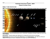 A Vocabulary Study Guide & Test for Moon Phases
