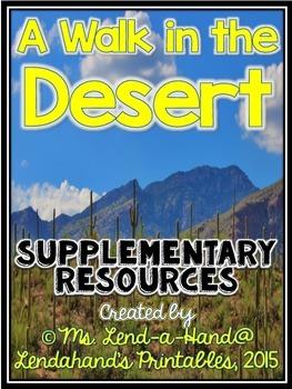 Reading Street, A WALK IN THE DESERT Resource Teacher Pack