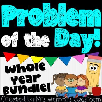 Word Problems & Math Interactive Notebook Bundle! Whole Year!!!