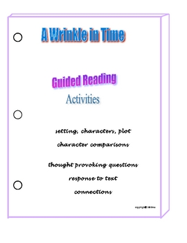 A WRINKLE IN TIME NOVEL STUDY LITERATURE GUIDE