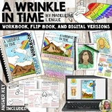 A WRINKLE IN TIME NOVEL STUDY WORKBOOK, FLIP BOOK, AND FOR