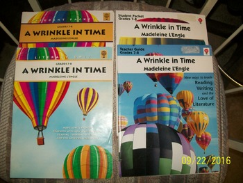 A WRINKLE IN TIME  (SET OF 9 Teacher's Guides)