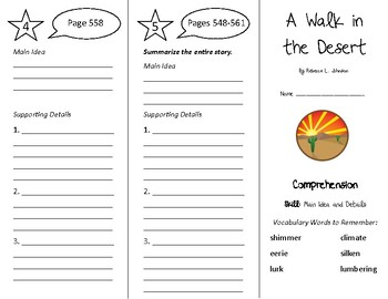 A Walk In The Desert Trifold - Treasures 4th Grade Unit 5 Week 1 (2011)