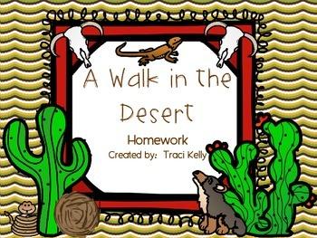A Walk in the Desert Homework - 2nd Grade Scott Foresman