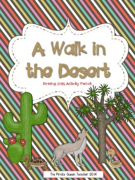 A Walk in the Desert Printable Reading Comprehension Activ
