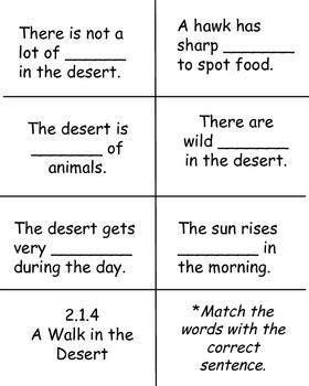 A Walk in the Desert, Reading Street