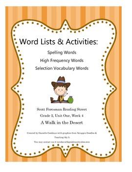 A Walk in the Desert Scott Foresman 2nd Grade Reading Stre