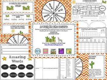 A Walk in the Desert Spelling and Vocabulary Games