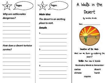 A Walk in the Desert Trifold - Reading Street 2nd Grade Unit 1 Week 4