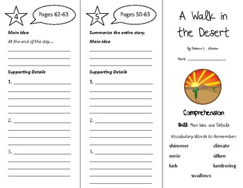 A Walk in the Desert Trifold - Treasures 4th Grade Unit 1 Week 2 (2009)