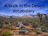A Walk in the Desert - Vocabulary