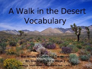 A Walk in the Desert - Vocabulary