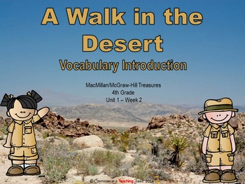 A Walk in the Desert - Vocabulary Introduction
