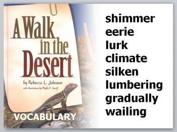 """A Walk in the Desert Vocabulary PowerPoint (""""Treasures"""" Reading, 4th Grade)"""