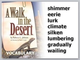 "A Walk in the Desert Vocabulary PowerPoint (""Treasures"" Re"