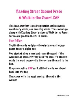A Walk in the Desert ZAP