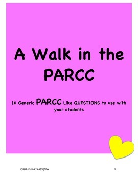 PARCC Walk [A Walk in the PARCC]