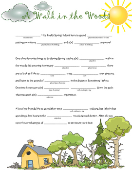 A Walk in the Woods: A Springtime Madlib
