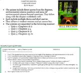A Walk in the Woods chapter quizzes and answer key
