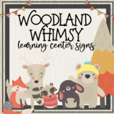 Woodland Whimsy Learning Center Signs