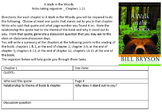 A Walk in the Woods chapter quote-taking graphic organizer