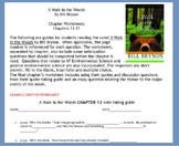 A Walk in the Woods chapters 13-21 worksheets